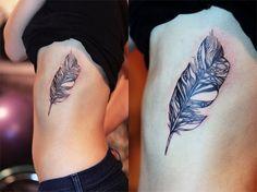 Feather Tattoo On Ribs | Best Tattoo Ideas & Designs