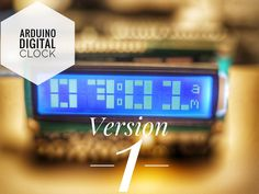 Custom digital clock using all available resources of a LCD to make it look good. By Arduino World. Arduino Lcd Shield, Lcd Keypad Shield, Diy Electronics, Electronics Projects, Arduino Display, Timer Clock, Diy Clock, Digital Alarm Clock, Raspberry