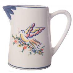 Creamer / small pitcher with bird  by OFceramics