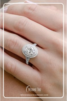 Double Halo Oval Diamond Engagement Ring The One Collection exclusively at Wedding Day Diamonds