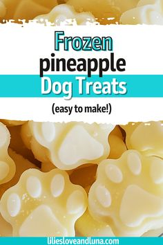 An easy way to make your dog a frozen treat for warm days.