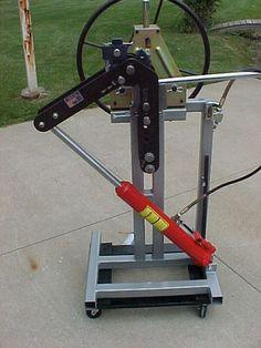 Air/hydraulic bender frame - JD2 tubing bender + HF tubing roller - The Garage Journal Board