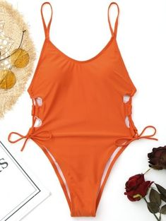 SHARE & Get it FREE | Side Lace Up High Cut Swimwear - Jacinth MFor Fashion Lovers only:80,000+ Items • New Arrivals Daily Join Zaful: Get YOUR $50 NOW!