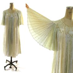 60s Angel Sleeve Trapeze Dress / Indian Cotton by SpunkVintage, $120.00