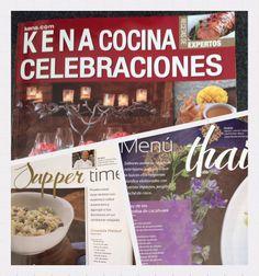 """No se pueden perder nuestras secciones en la revista Kena Cocina Especial """"Celebraciones"""" les van a encantar!"""