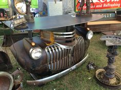 1942 chevy bar made by relics awry Car Part Furniture, Automotive Furniture, Automotive Decor, Pallet Furniture, Furniture Making, Furniture Ideas, Vintage Industrial Furniture, Industrial Style, Car Part Art