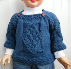 Impeccable Knits--Luise O'Neill--Celtic Child Kieran Pullover (ages 1 - 6)