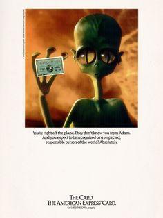 American Express, 1992 Dandy, Vintage Advertisements, No Response, Nostalgia, Advertising, American, Aliens, Dandy Style, Vintage Ads