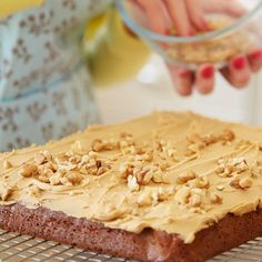 Mary Berry& Coffee & Walnut Traybake in Yummy cakes recipes at Lakeland recipes easy 3 ingredients Delicious Cake Recipes, Yummy Cakes, Sweet Recipes, Cheap Recipes, Yummy Yummy, Delicious Food, Tray Bake Recipes, Dessert Recipes, Baking Recipes Uk