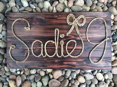 32 Rope name sign western decor baby by RiverChicksBoutique