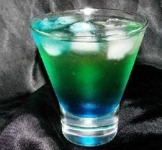 Alien Urine (really?):  The name of this neon cocktail might leave something to be desired, but the taste won't! It'll have party guests in orbit, with assorted fruit liqueurs, coconut rum and blue curaçao.