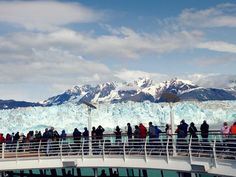 Glacier views from the top deck. #alaska
