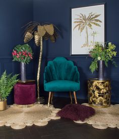 Audenza's New Sumptuous Velvet Collection – Art Deco Interior Colorful Interior Design, Colorful Interiors, Interior Design Living Room, Living Room Decor, Bedroom Decor, Design Interiors, Decor Room, Deco Interiors, Wall Decor
