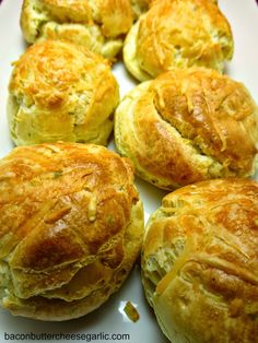 Cheese Puffs...these are very easy to make and very tasty.  They are very similar to popovers and are hollow inside.