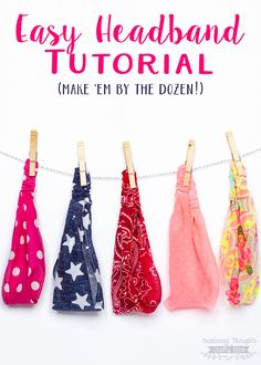 Free headband sewing tutorials for women - Fabric Crafts To Sell Headband Tutorial, Headband Pattern, Diy Headband, Bow Tutorial, Flower Tutorial, Diy Crafts For Teen Girls, Crafts For Teens To Make, Kids Diy, Diy Outfits