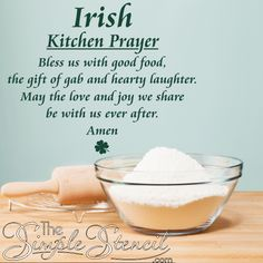 Irish Kitchen Prayer Irish Vinyl Wall Quotes Sayings Vinyl Irish Prayer, Irish Blessing, Irish Quotes, Irish Sayings, Fun Sayings, Irish Proverbs, Irish Eyes Are Smiling, Vinyl Wall Quotes, Prayers