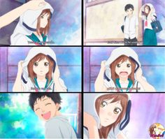 Blue Spring Ride Futaba et Kô Ao Haru Ride Anime, Futaba Y Kou, Howl And Sophie, Blue Springs Ride, Romance Anime, Anime Stickers, Usui, Photocollage, Manga Pages