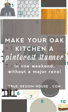 Remodel The Best Wall Paint Colors To Go With Honey Oak — True Design House Reduce Remodeling Stress Kitchen Colour Schemes, Kitchen Paint Colors, Wall Paint Colors, Paint Colors For Home, House Colors, Color Schemes, Honey Oak Cabinets, Oak Kitchen Cabinets, Kitchen Redo