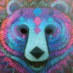 Jääkarhu naamio 4kpl taitekortteja / Polarbear mask - Sleepy Bear's Art