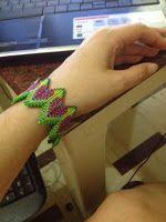 zia lola beads it: Layered Rick-Rack Bangle inspired by CGB