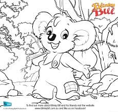 to make a blinky bill themed colouring in book - Colouring In Book