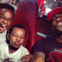 LeBron James with sons : )