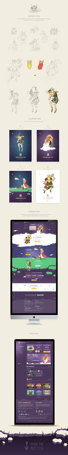 Characters and website for online casino on Behance