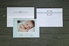 Custom Letterpress Birth Announcement inspired by one of a kind crib bedding. @CraneandCo Lettra 220lb Designed by www.emmajdesign.com