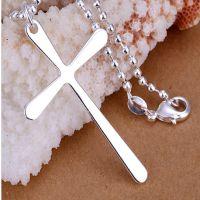 Zilveren kruis ketting www.th-sieraden.nl GRATIS verzenden