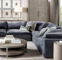 Restoration Hardware Cloud Modular L-Sectional Chesterfield Sofa, Chaise Sofa, Armless Chair, Chair Cushions, Restoration Hardware Sectional, Restoration Hardware Kitchen, Muebles Living, Interior Desing, Comfortable Sofa