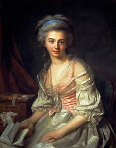 The Artist's Daughter, Marie-Nicole Vestier ~ Antoine Vestier ~ (1740-1824)