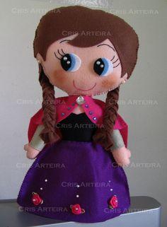 Boneca Princesa Ana em feltro