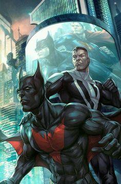 "Generations by Stanley ""Artgerm"" Lau #StanleyLau #Artgerm #Batman #BruceWayne #TheDarkKnight #JusticeLeague #JL #Gotham #GothamCity #BatmanBeyond #TerryMcGinnis #JusticeLeagueUnlimited #JLU #SupermanBeyond #Superman #ClarkKent #KalEl #JusticeLeague #JL #Krypton #ManofSteel #DailyPlanet #Smallville #Metropolis"