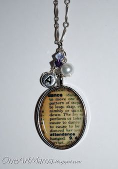DIY dictionary pendant. Great Christmas gift!