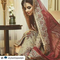 #Repost @stylestrippedpk with @repostapp ・・・ Another gorgeous bride to wave 2016 a fashionable good bye! #FahadHussayn never disappoints, Makeup by #MaramAabroo #brides #desibride #pakistanibride #indianbride #asianbride #asianwedding #pakistaniwedding #desiwedding #wedding #traditional #royal #decadence #handcrafted #ethnic #couture #bridalwear #handembroided #swarovski #custom #bridal #bridalwear #bridalmakeup