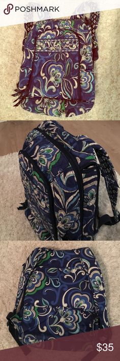 Vera Bradley Backpack Fashionable and functional Backpack by Vera Bradley! Multiple compartments to fit anything you need including a compartment for a laptop/tablet. Vera Bradley Bags Backpacks