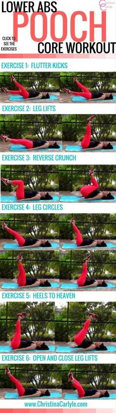 Does your belly pooch both you? Learn how to exercise your lower abs and get a Lower Ab Workout for women from Trainer Christina Carlyle. by francine
