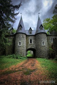 Ravenloft Castle, abandoned, sitting high on a dark hillside outside of a small town in Upstate New York Beautiful Castles, Beautiful Buildings, Beautiful World, Beautiful Places, Wonderful Places, Oh The Places You'll Go, Places To Travel, Travel Destinations, Travel Tips