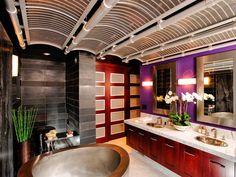 Bad Inspiration, Bathroom Design Inspiration, Bathroom Interior Design, Interior Decorating, Decorating Ideas, Purple Bathrooms, Dream Bathrooms, Beautiful Bathrooms, Lavender Bathroom