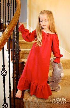 Holiday Flannel Nightgown  sizes 1016 by lavenderave on Etsy, $95.00