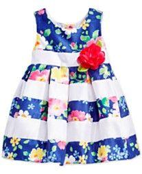 Sweet Heart Rose Baby Girls' Woven Floral-Print Dress
