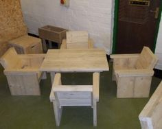 CHILDS TABLE & 4 CHAIRS £340