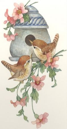 CShoresInc currently offers two types of original art: watercolors and lithographs by Carolyn Shores Wright and jewelry by Dianne V. Vintage Birds, Vintage Art, Watercolor Bird, Watercolor Paintings, Ouvrages D'art, China Painting, Bird Drawings, Bird Pictures, Bird Prints