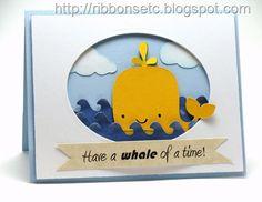 Cricut Have a Whale of a Time Card. Create a Critter Cartridge.  *