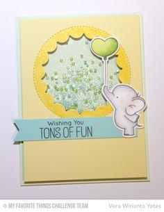 Adorable Elephants, Adorable Elephants Die-namics, Jumbo Peek-a-Boo Circle Windows Die-namics - Very Wirianta Yates #mftstamps