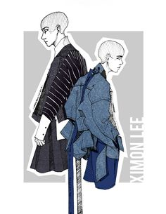 Ximon Lee_Fashion Illustration Foto de Nadia Banicki en Behance