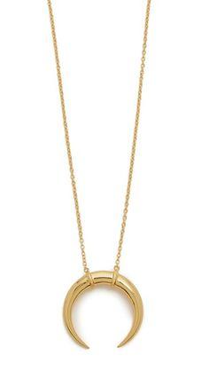 Cayne Crescent Pendant Necklace