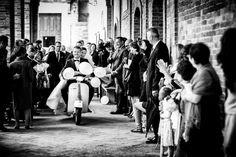 Spouses on Vespa Italian Wedding Photographer Wedding in Italy Italy wedding photograph #wedding #italy #weddinginitaly #weddingday #bridalday #bride #italybride #italianphotographer #piaggio #vespa