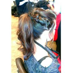 Prom ponytail two strand twist! Fancy ponytail. Ponytail updos. Braided. Fun prom hair.