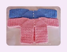 A FREE crochet cardigan pattern for a newborn, that will fit the newly born baby perfectly. This crochet cardigan is made from the neck down using the single crochet. Giving a nice firm neck and shoul